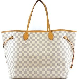 Neverfull Neo White Grey Damier Azur Canvas bag